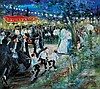 **Huvy b.1927 (Israeli) Outdoor wedding in Jerusalem oil on canvas, Elisha (Huvy} Ahuva, Click for value