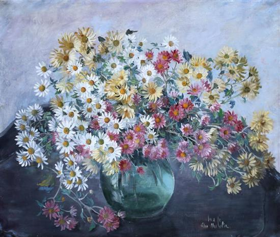Ann Medalie 1896-1991 (Israeli) Bouquet of flowers oil on canvas