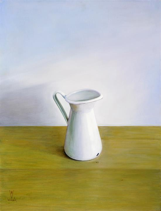 **Gustavo Valenzuela b.1974 (Mexican) Water jug oil on panel