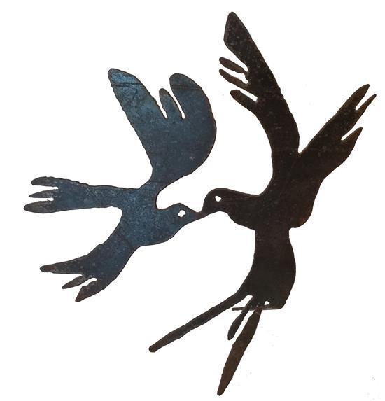 Menashe Kadishman 1932-2015 (Israeli) Birds, 1990's iron