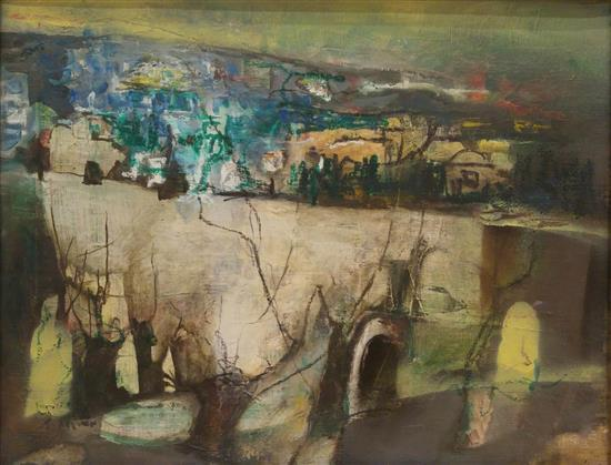 Zvi Mairovitch 1911-1974 (Israeli) Jerusalem oil on canvas