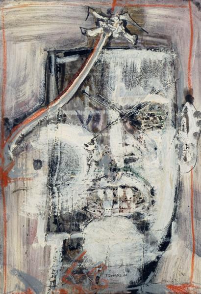 Igael Tumarkin b.1933 (Israeli) Head oil on board