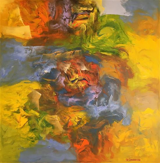 Eduard Grossman b.1946 (Russian, Israeli) Abstract, 2001 oil on canvas