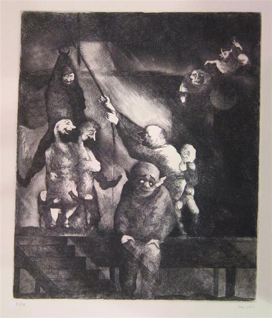 Ra'anan Levy b.1954 (Israeli) The executioner, 1976 etching