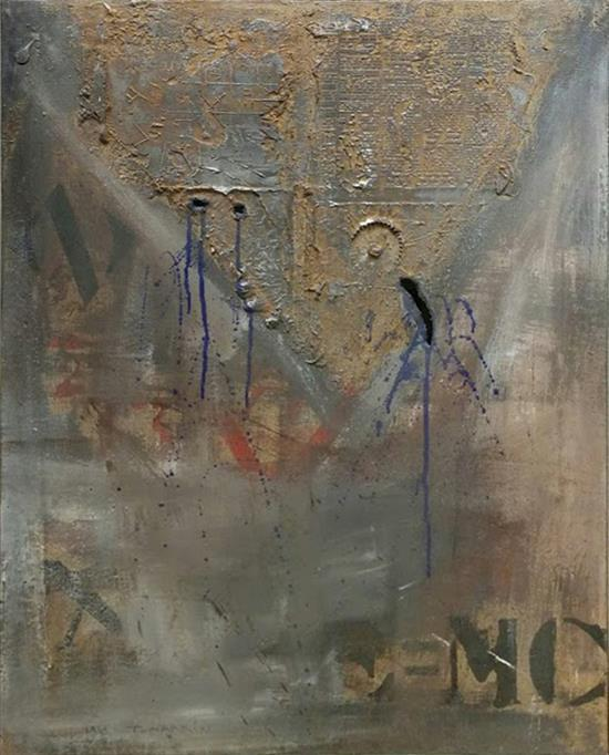 **Igael Tumarkin b.1933 (Israeli) Untitled mixed media on canvas