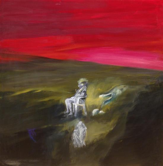 Ivan Schwebel 1932-2011 (Israeli) Sightseeing at an archeologica site oil on canvas