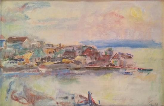 Chaya Schwartz 1912-2001 (Israeli) Landscape oil on paper