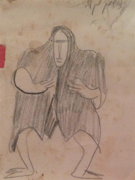 Menashe Kadishman 1932-2015 (Israeli) Untitled pencil on paper