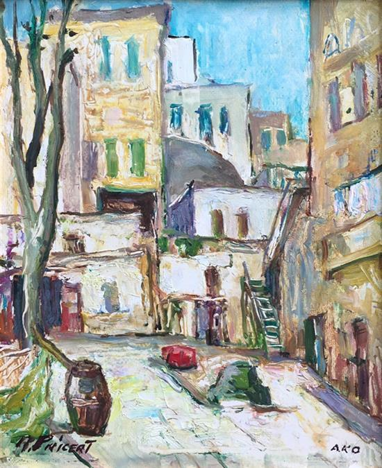 Raphael Pricert 1905-1967 (Russian, French) Akko, 1950's. Artist from the Second School of Paris known for being an ambassador of Fr...
