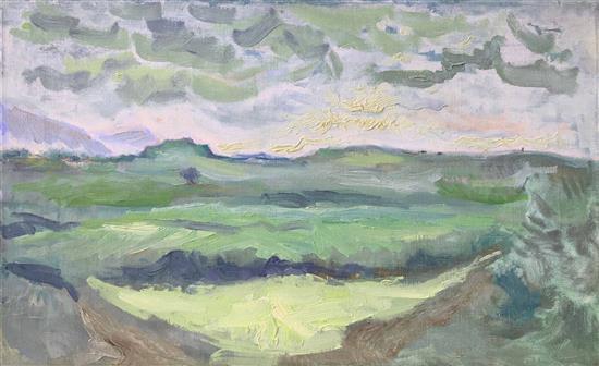 Shlomo Van Den Berg 1920-1982 (Israeli) Emek Beit Shean oil on canvas