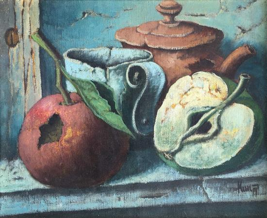 Zeev Kun b.1930 (Hungarian, Israeli) Still life oil on canvas