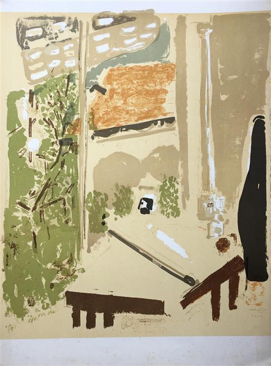 Liliane Klapisch b.1933 (Israeli) Interior lithograph