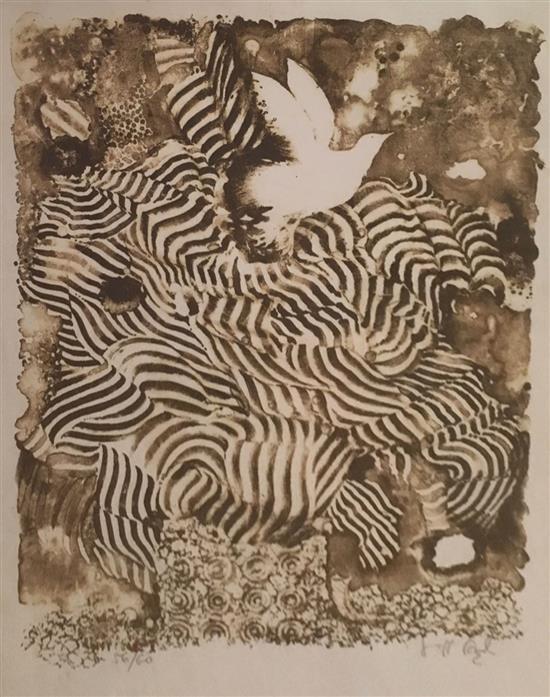 Shraga Weil 1918-2009 (Israeli) Untitled lithograph