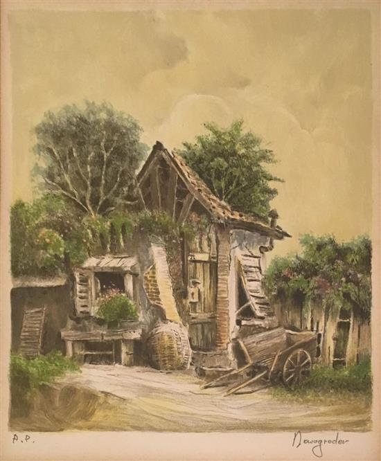 Jacov Nowogroder b.1939 (Israeli) Hose lithograph