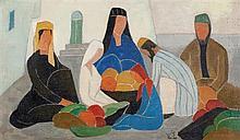 Shmuel Schlesinger 1896-1986 (Israeli) Oriental scene oil on canvas