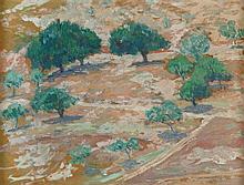 Hermann Struck 1876-1944 (Israeli) Grove of trees, 1932 oil on masonite