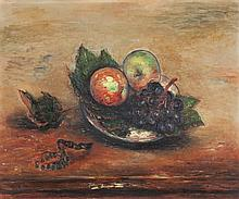 Reuven Rubin 1893-1974 (Israeli) Still life with fruit, c. 1940 oil on canvas