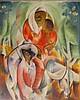 Moshe Matus (Matusovski) 1908-1958 (Israeli) Women and child in cubist composition gouashe on paper, Moshe Matus, Click for value