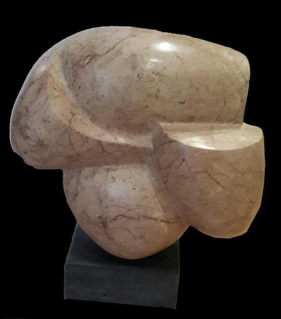 Reuven Scharf b. 1938 (Israeli) Woman's torso brown marble