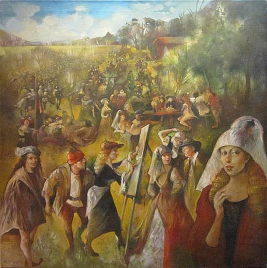 Gretty Rubinstein 1947-2001 (Israeli) Hommage, 1993-94 oil on canvas