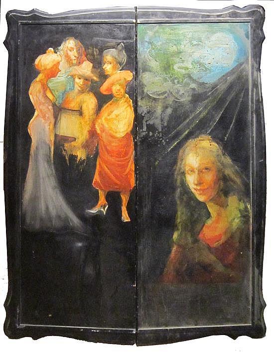 Gretty Rubinstein 1947-2001 (Israeli) Fairy tales oil on wood