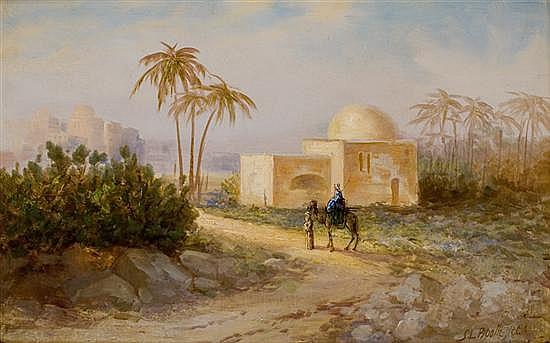 Samuel Lawson Booth 1863-1926 (British) Rachel's tomb oil on canvas