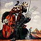 Alex Kanchik b. 1959 (American) Cellist oil on canvas, Alex Kanchik, Click for value