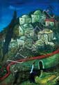 Moshe Castel 1909-1991 (Israeli) Jerusalem, 1930 oil on canvas