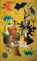 **Yohanan Simon 1905-1976 (Israeli) Allegorical landscape, 1965 oil on canvas