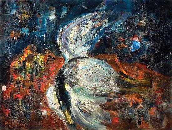 Yitzhak Frenkel Frenel 1899-1981 (Israeli) Still life, 1920's oil on canvas