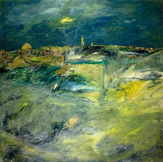 David Soussana b. 1944 (Israeli) Jerusalem oil on canvas