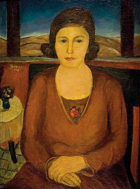 Joseph Kossonogi 1908-1981 (Israeli) Portrait of the artist's mother, 1928 oil on canvas