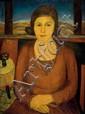 Joseph Kossonogi 1908-1981 (Israeli) Portrait of the artist's mother, 1928 oil on canvas