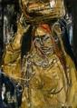 **Ruth Schloss b.1922 (Israeli) Yeminite Woman, 1962 oil on masonite