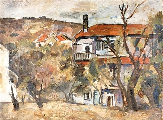 Menachem Shemi 1897-1951 (Israeli) Zichron Ya'akov, c. 1932 oil on canvas