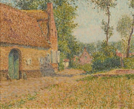 Emile anselet 1865 1951 french countryside landscape oil for French countryside real estate