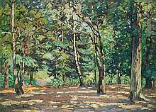 **Emmanuel Victor Auguste Marie de la Villéon 1858-1944 (French) In the woods of Bel Air, 1892 oil on canvas