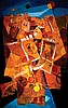 Touvia b. 1980 (Israeli) Orange Jerusalem oil and mixed media on board, Basanson Touvia, Click for value