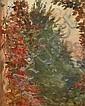 Marie BRACQUEMOND (Morlaix 1841- Sèvres 1916) Jardin vu de la fenêtre Huile sur toile d origine 27 x 22 cm Provenance: Collection pr..., Marie Bracquemond, Click for value