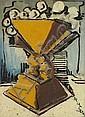 Ismael de la SERNA (Grenade 1898-PARIS 1968) Un vase Huile sur carton 34 x 25 cm Signé en bas à droite de la Serna, Ismael González