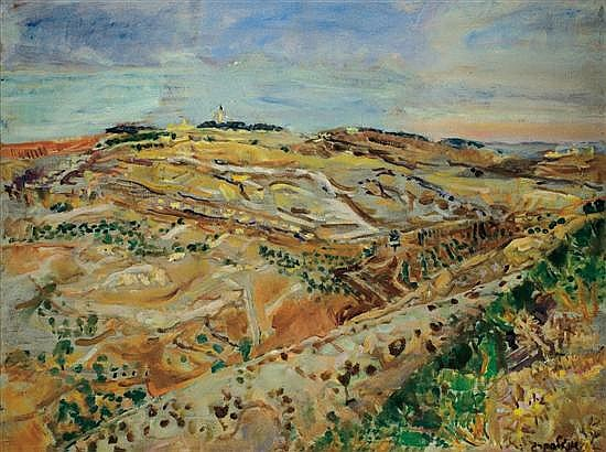 ** Leon Engelsberg 1908-1998 (Israeli) Jerusalem Landscape oil on canvas