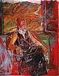 Eliyahu Gat 1919-1987 (Israeli) Seated woman oil on canvas, Eliyahu Gat, Click for value