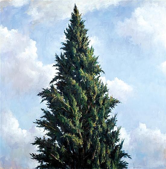 Ilan Baruch b. 1974 (Israeli) Cypress Tree, 2006 oil on canvas