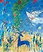 Ben Avram b. 1937 (Israeli) In the garden of Eden oil on canvas, Edward Phillips, Click for value