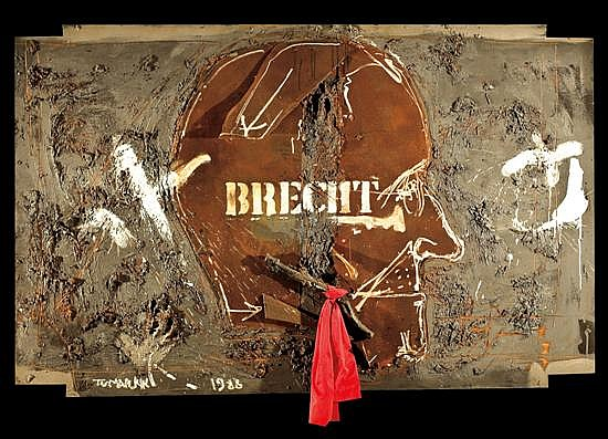 Igael Tumarkin b.1933 (Israeli) Hommage to Bertold Brecht,1988 mixed media on masonite