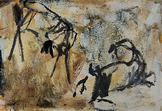 Eran Shakine b.1962 (Israeli) Abstract composition, 1997 oil and mixed media on canvas