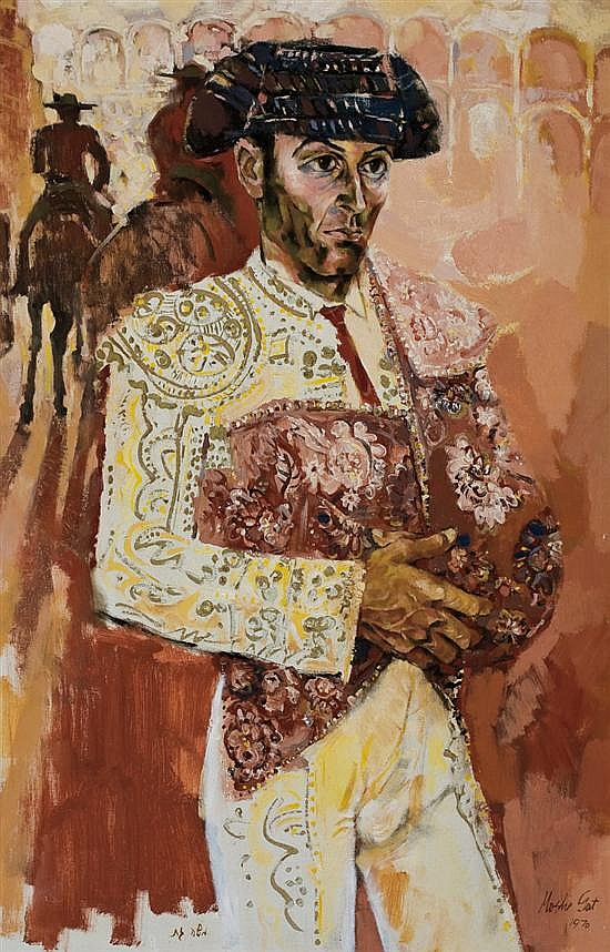 Moshe Gat b.1935 (Israeli) Matador, 1970 oil on canvas