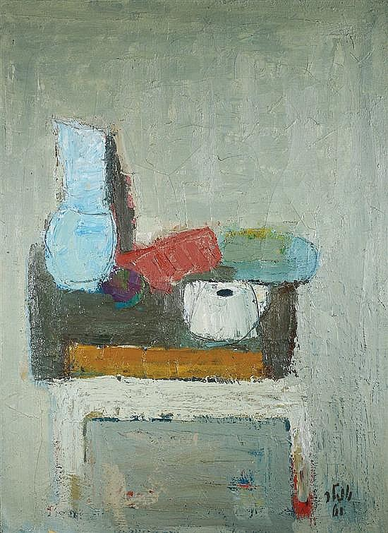 Shmuel Tepler 1918-1998 (Israeli) Still life oil on canvas