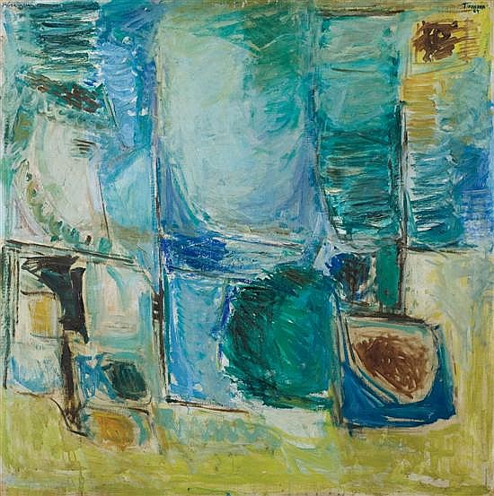 Pinchas Abramovich 1909-1986 (Israeli) Untitled, 1964-65 oil on canvas