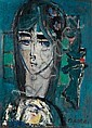 Zvi Mairovitch 1911-1974 (Israeli) Young girl oil and mixed media on canvas, Zvi Mairovitch , Click for value